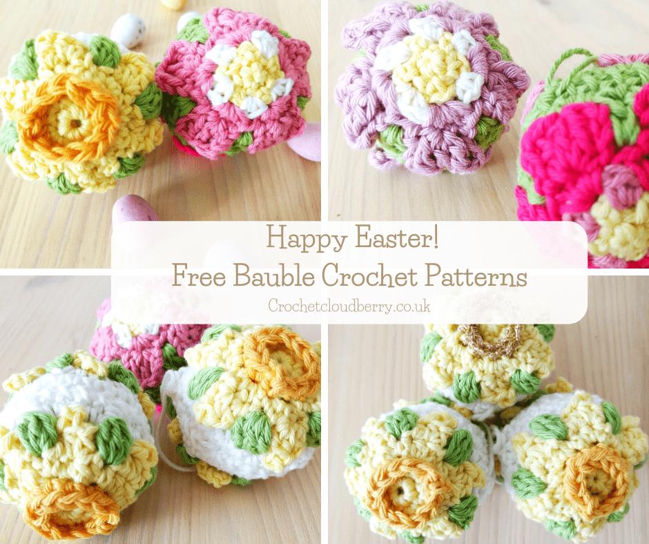 Primrose Easter Tree Bauble - Free Crochet Pattern - Crochet Cloudberry
