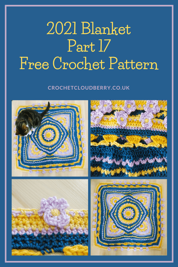 2021 Crochet Blanket - blossom stitch- free crochet pattern - Crochet Cloudberry