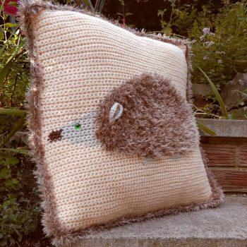 Fluffy Hedgehog Cushion Pattern - Crochet Cloudberry
